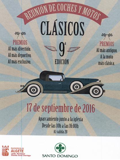 Celebración de la 9ª edición de motos y coches clásicos en Algete