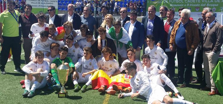 El REAL MADRID se proclama campe�n del I TORNEO DE F�TBOL CADETE �VILLA DE ALALPARDO� Homenaje a D. Vicente Del Bosque