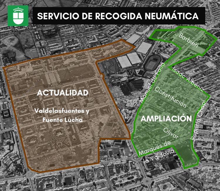 Alcobendas ampliará el Servicio de Recogida Neumática de Residuos para beneficio de 12.000 vecinos