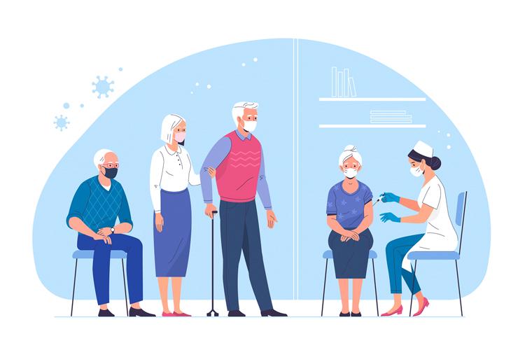 Comienza la vacunación a las personas mayores de 80 años en Alcobendas