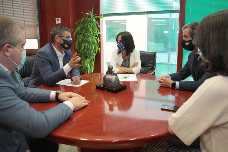 La Delegada del Gobierno en Madrid, Mercedes González, visita Alcobendas