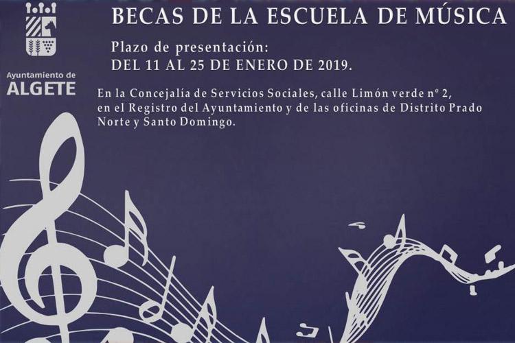 """Algete abre el plazo para las becas de la Escuela Municipal de Música y Danza """"Andrés Segovia"""""""