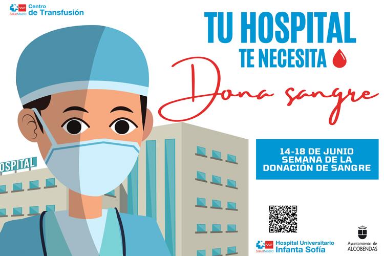 """El Hospital Universitario Infanta Sofía se suma a la Semana de la Donación de Sangre """"Tu Hospital te necesita. Dona sangre"""""""