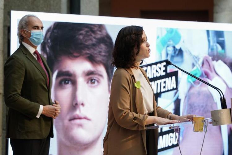 Díaz Ayuso presenta una ambiciosa campaña informativa para concienciar del impacto del COVID-19 si se incumplen las medidas de prevención