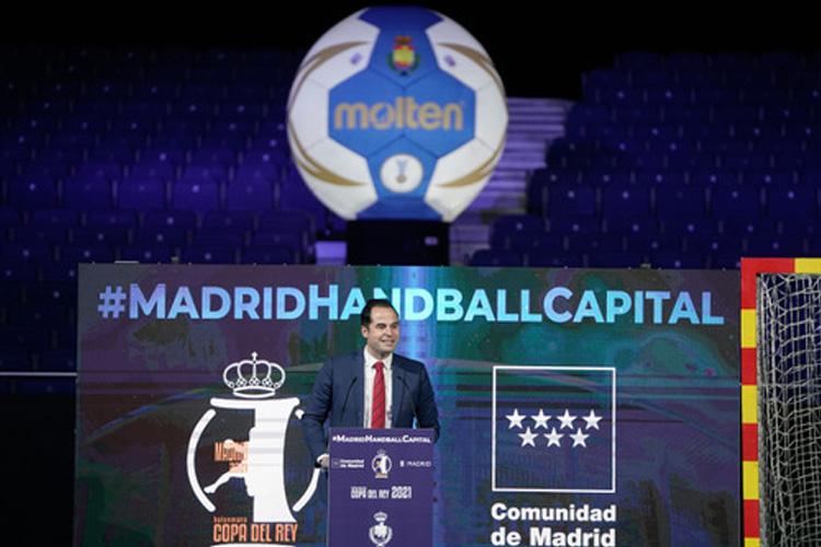Ignacio Aguado celebra que la XLVI Copa del Rey de Balonmano sea la primera competición deportiva abierta al público en 2021