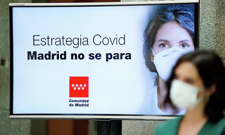 Díaz Ayuso activa una Estrategia frente a la COVID-19 para que Madrid no se pare
