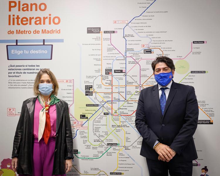 La Comunidad de Madrid presenta el Plano Literario de Metro para fomentar la lectura y dar a conocer grandes obras