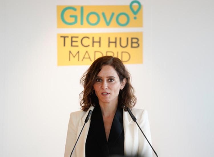 Díaz Ayuso inaugura el nuevo centro tecnológico de Glovo en Madrid con la creación de más de un centenar de empleados I+D