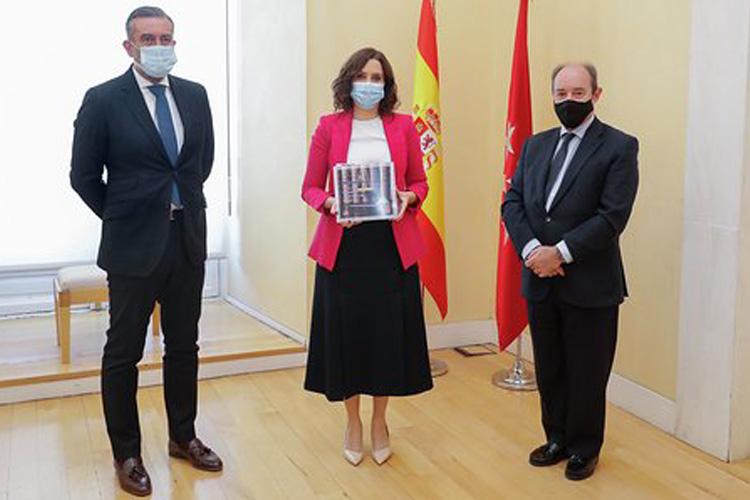 Díaz Ayuso recibe la Memoria de actividades 2019 del Tribunal Superior de Justicia de Madrid
