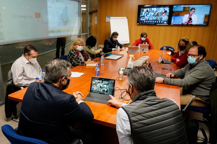 La Comunidad de Madrid coordina el dispositivo de emergencias para hacer frente al temporal de frío y nieve en la región