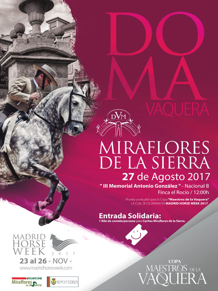 """Nace la Copa """"Maestros de la Vaquera"""" en Madrid Horse Week 2017"""
