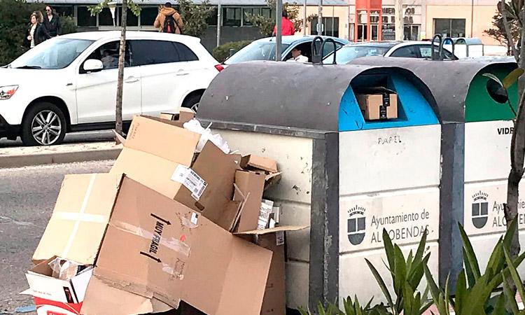 En Alcobendas se sanciona a los que abandonan residuos en las calles