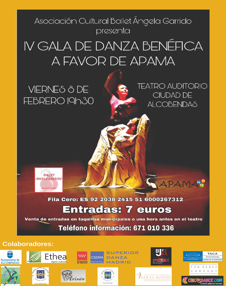 'Gala de Danza Benéfica Ángela Garrido' a beneficio de APAMA