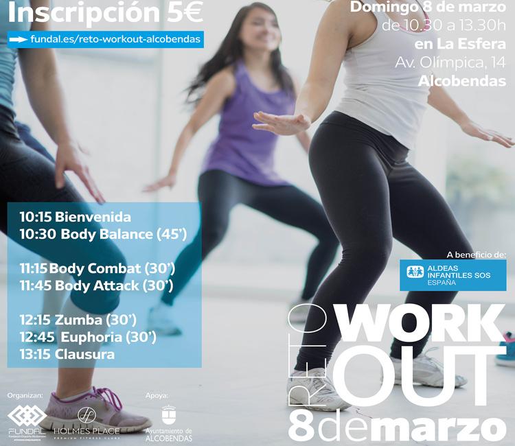 FUNDAL y Holmes Place lanzan el Reto Workout para el domingo, 8 de marzo, en Alcobendas