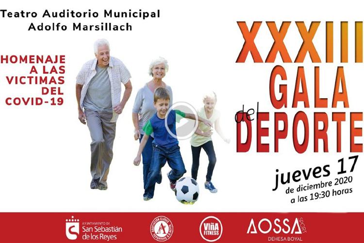 ¡Hoy se celebra la XXXIII edición de la Gala del Deporte de San Sebastián de los Reyes!