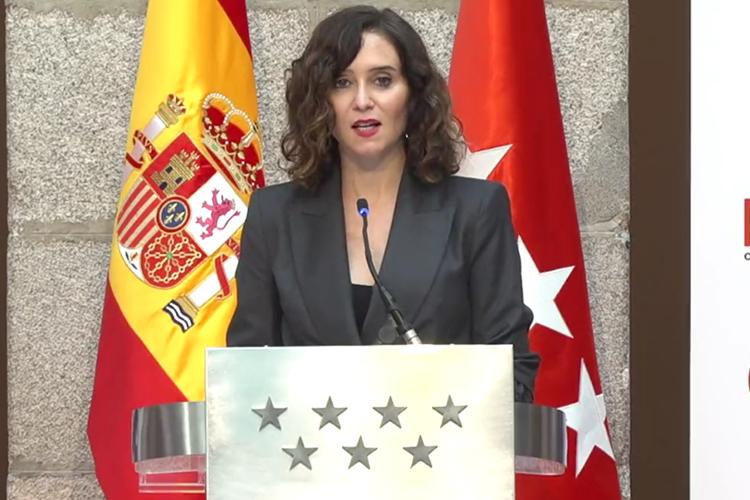 La Presidenta de la Comunidad de Madrid apremia al Presidente Sánchez solicitándole ayuda urgente para combatir el Coronavirus