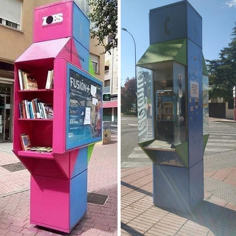 Izquierda Independiente pide que se reconviertan las cabinas telefónicas de Sanse en bibliotecas urbanas y puntos Wifi gratuitos