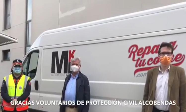 Reparatucoche.com realiza la limpieza higienizante con ozono a la flota de Protección Civil de Alcobendas