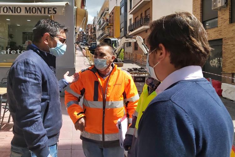 Obras de remodelación en cuatro calles del Distrito Centro de Alcobendas
