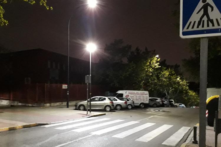 Sanse invierte 14.000 euros en optimizar la iluminación de los pasos de peatones