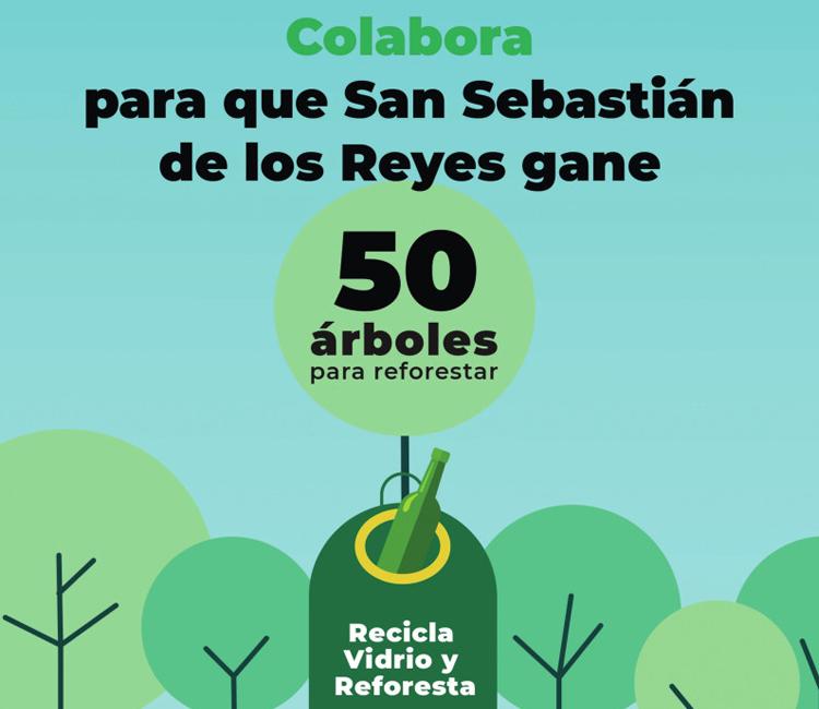 El Ayuntamiento de San Sebastián de los Reyes acepta el reto 'Reciclo y Reforesto' de Ecovidrio
