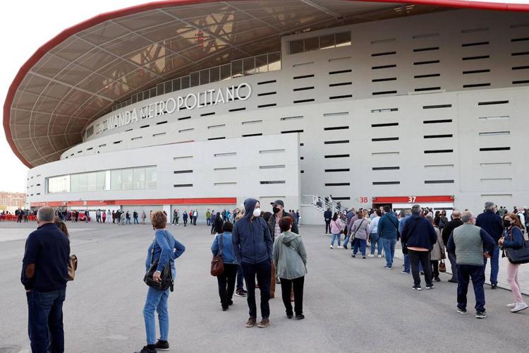 El Estadio Wanda Metropolitano concluye su actividad como punto de vacunación contra el COVID-19 tras administrar más de 577.000 dosis