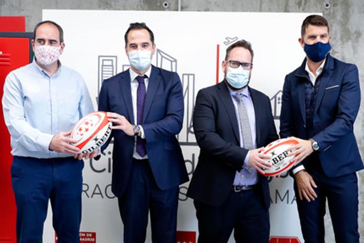 """El Vicepresidente, Ignacio Aguado, presenta el proyecto de la """"Ciudad del Rugby"""" en Paracuellos de Jarama"""