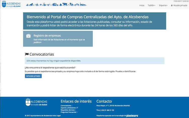 El Ayuntamiento de Alcobendas pone en marcha una plataforma digital de compras centralizada