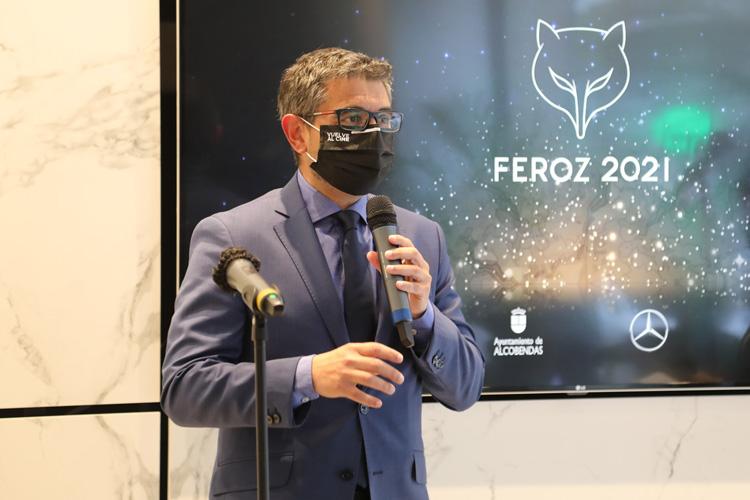 """El Alcalde, Rafael Sánchez Acera, presenta la gala de los """"Premios Feroz 2021"""" se celebrará, por segundo año consecutivo, en el Teatro Auditorio Ciudad de Alcobendas"""